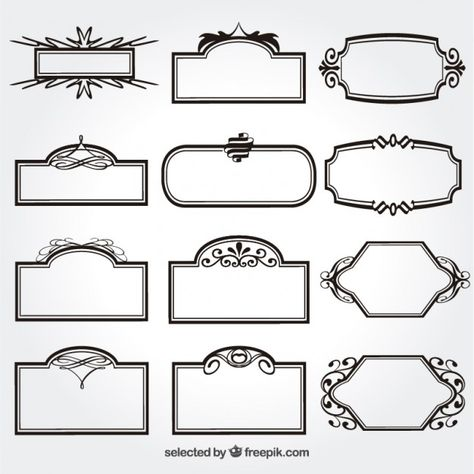 Ornamental frames collection Free Vector