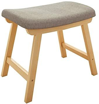 Ybriefbag Home Vanity Benches Vanity Stool With Wood Legs Makeup Bench Dressing Stool Padded Cushioned In 2020 Dressing Table With Stool Dressing Stool Vanity Benches