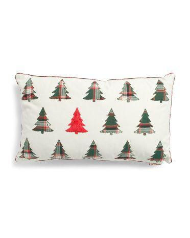 14x24 Mini Christmas Trees Pillow Throw Pillows T J Maxx With