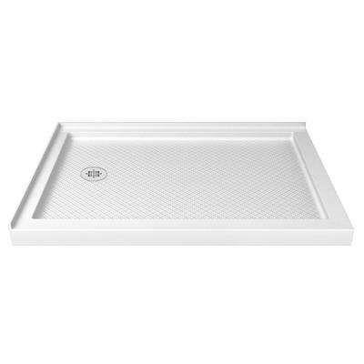 Slimline 36 In D X 54 In W Double Threshold Shower Base In White