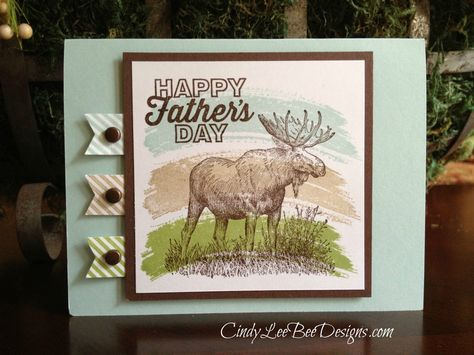 Cindy used the Work of Art swoosh to color the In the Wild moose. Looks great! All supplies from Stampin' Up!