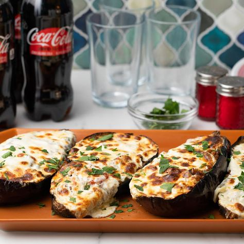 This cheesy-stuffed eggplant and Coca-Cola® Zero Sugar is a flavor-packed pairing you'll quickly fall in love with. #ad