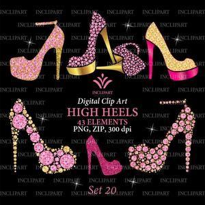 18+ Gold high heel shoes clipart info
