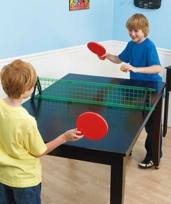 Foam Table Tennis Perfect For The Kids To Learn How To Play With Can T Break Anything This Way When They Mi Table Tennis Tennis Techniques How To Play Tennis