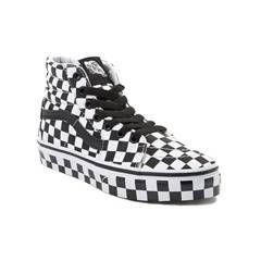 Youth Vans Sk8 Hi Full Chex Skate Shoe