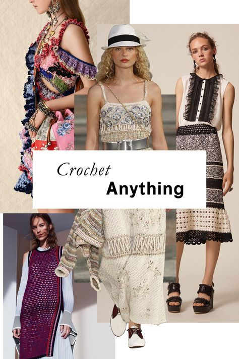 Crafty-cool crocheted styles have got just a touch of nostalgia (grandma's afghan, anyone?), but in ruffled little dresses and side-slit tunics, feel decidedly 21st century.