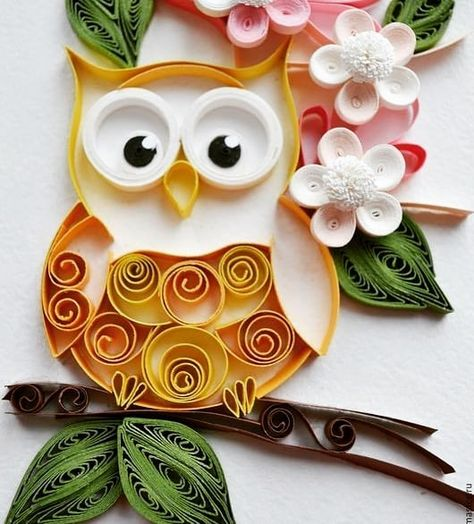 Quilling The Happy Strings On Instagram Love For Owls Dm For Inquiry Or Order Quilling Thehappystring Quilling Quillingpaper Quillingart Quill