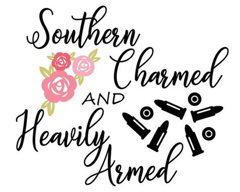 Excited to share this item from my shop: Southern Charmed and Heavily Armed SVG Vinyl Crafts, Vinyl Projects, Cricut Svg Files Free, Southern Sayings, Down South, Cricut Creations, Silhouette Design, Silhouette Vinyl, Vinyl Designs