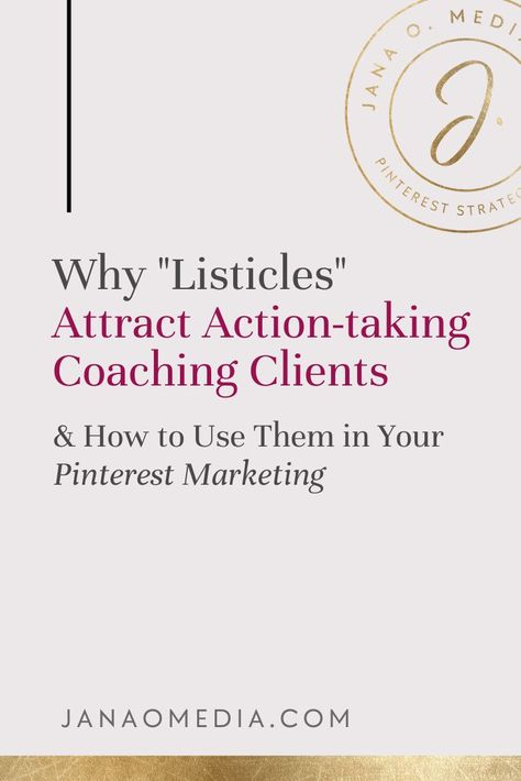 Pinterest Marketing Tip: How to Attract action-taking clients for your life coaching business