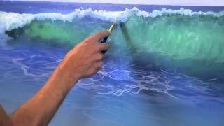 How to Paint Water on a Beach muraljoe - YouTube