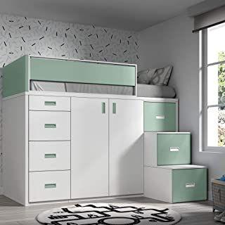 16 Ideen Fur Ein Bett Mit Einem Schrank Darunter Den Sie Fur Ein Kinderzimmer Emulieren Konnen 11 In 2020 Hochbett Mit Schrank Hochbett Zimmer