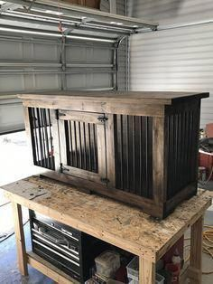 How To Build An Indoor Dog Kennel 731 Woodworks We Build Custom Furniture Diy Guides Monticello Ar Indoor Dog Kennel Building A Dog Kennel Dog Crate Furniture