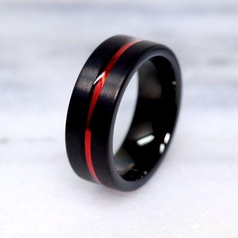 Unique Mens Wedding Band   Tungsten Wedding Band   Inexpensive Wedding Band   Wedding Ring Ideas