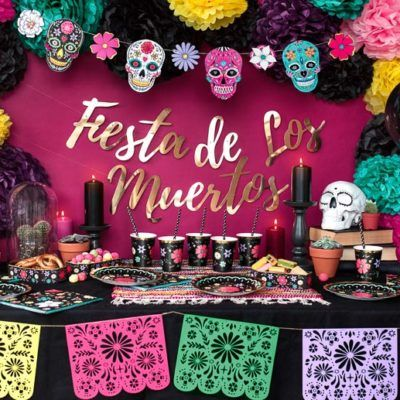 Kit Decoracion Fiesta Halloween Dia De Los Muertos Fiesta De Los Muertos Fiesta Dia De Muertos Fiesta De Halloween