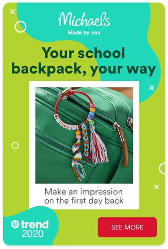 Michaels makes the first day back more fun. We've got all the back to school supplies you need - including exciting ways to make your backpack really stand out. Tap the Pin and see more.