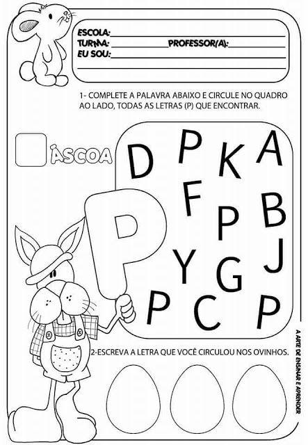 Atividades Variadas Para A Pascoa Atividades Com A Letra P