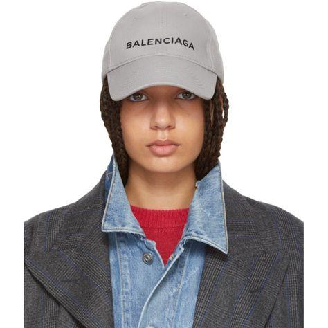 grey balenciaga cap