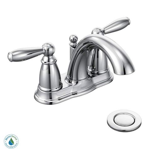 Moen 6610 Brantford Double Handle Centerset Bathroom Faucet Pop Up Drain Assem Chrome Faucet Lavatory Double Handle Bathroom Faucets Sink Faucets Faucet