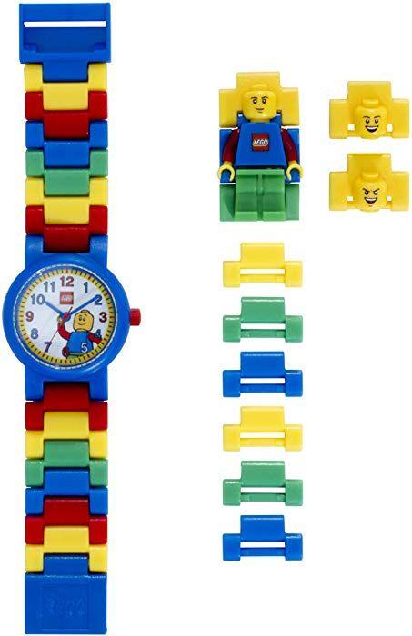 ddd1acd353c Amazon.com: LEGO Classic 8020189 Kids Minifigure Link Buildable Watch |  black/yellow | plastic | 25mm case diameter| analog quartz | boy girl |  official: ...