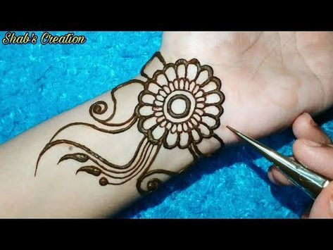 Full hand Shaded Arabic Mehndi Design