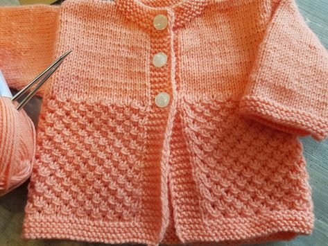 Baby set for a girl knitted with my Addi needles! : Baby set for a girl