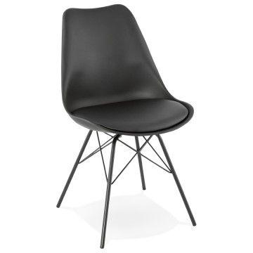 Chaise Noire Design Avec Revetement Similicuir Fabrik En 2020 Chaise Noir Design Chaise Design Et Chaise Noire