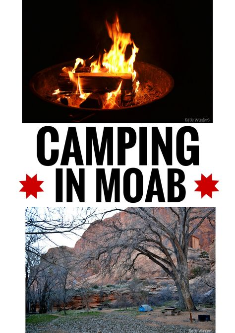 Al you need to know about camping in Moab, Directions, number of sites, a list, a map, and prices. Camping checklist included