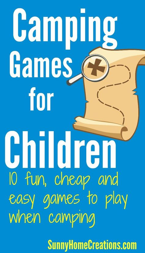 Here are 10 games to play while camping. These camping games are fun, easy and cheap. Make sure you are prepared with some games when you go camping. Campfire Games, Group Camping, Summer Camp Games, Camping With Toddlers, Camping Activities For Kids, Backyard Camping, Fun Games For Kids, Games For Toddlers, Camping Parties