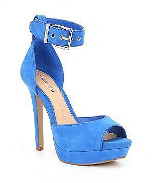 8f8c7dcbb Gianni Bini Juliannaa Suede Ankle Strap Platform Dress Sandals ...