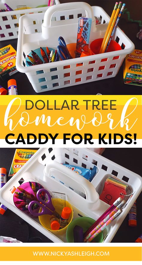 How I Created Homework Caddies For My Kids In 2020 With Images
