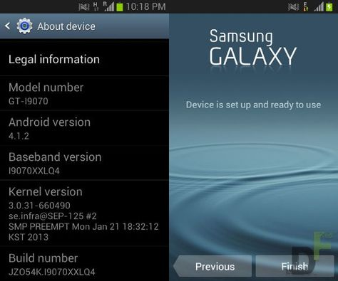 Update New Firmware I9070xxlq4 Android Jelly Bean Update For