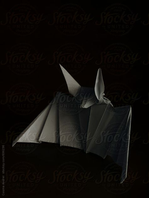 Bat paper origami by Cosma Andrei - Stocksy United