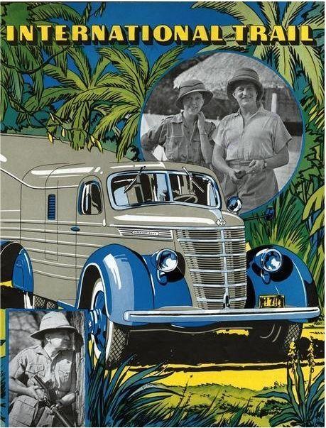 1940 INTERNATIONAL TRUCK CONGO JUNGLE COMMANDER GATTI YACHT REPLICA METAL SIGN