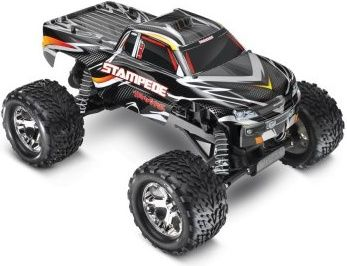 Rc Car World Traxxas Stampede Monster Truck Rtr W 2 4ghz Black Monster Trucks Radio Control Traxxas Stampede