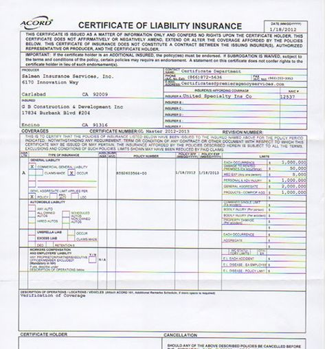 Car Insurance Certificate Template Fresh Liability Insurance