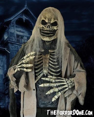 Halloween Skelett Vogelscheuche Horror Totenkopf Requisiten Grusel Party Deko DE