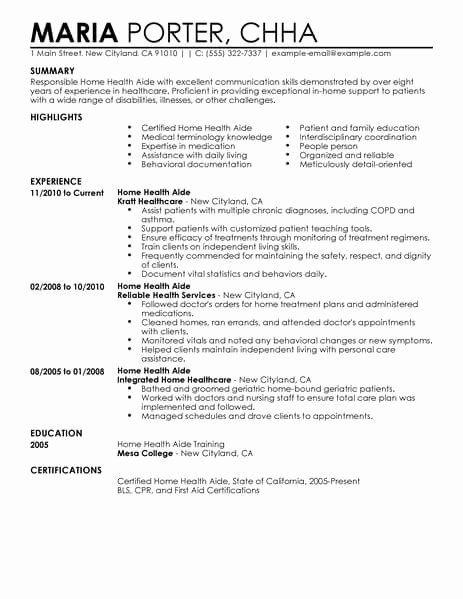 Home Health Aide Job Description Resume Elegant Best Home Health Aide Resume Example Resume Guru Riwayat Hidup