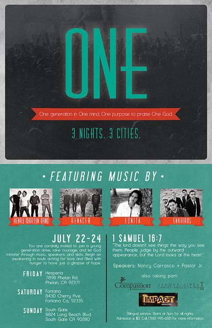 One Conference Flyer  Church Graphic Design Brochures And