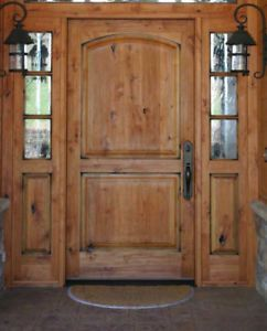 Tuscan Style Entry Door With 3 Lite