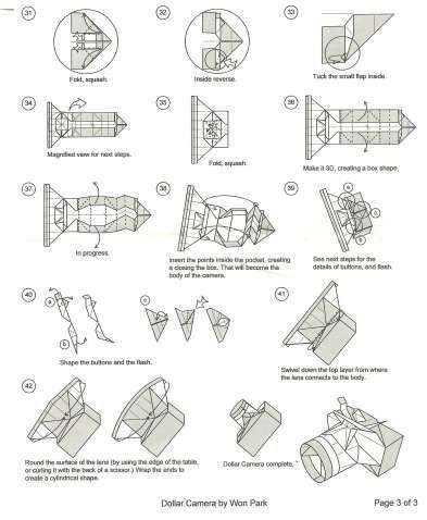 Origami Camera Drawing   Awesome origami Camera Drawing