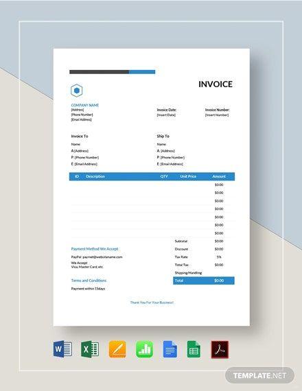 Simple Estimate Invoice Template Free Pdf Google Docs Google Sheets Excel Word Template Net Invoice Template Estimate Template Invoice Template Free