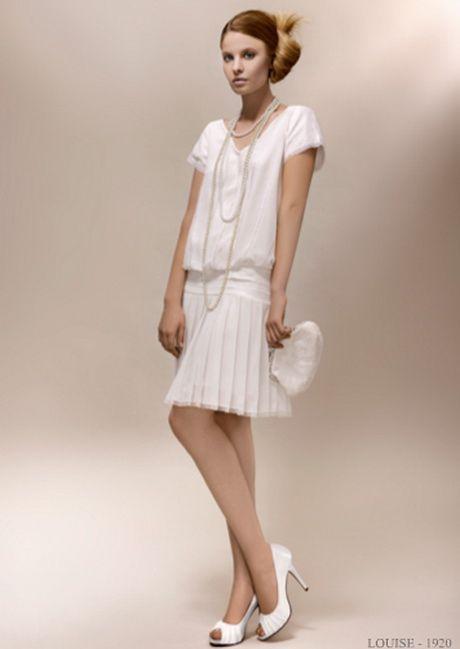 robe de mariée année 20 courte - 60% remise