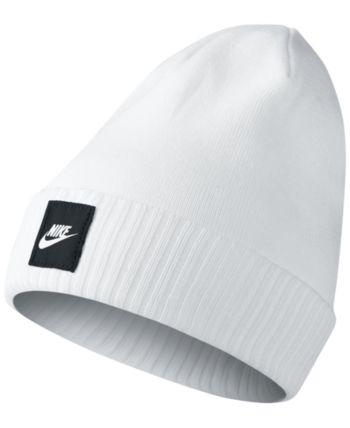 Nike Futura Cuff Beanie - White | Winter hats beanie, Cute ...
