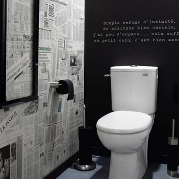Wc Faiences Carreaux De Ciment Et Carreaux Noirs Leroy Merlin Wc Faiences Carreaux De Ciment Design Interior Co Toilet Design Wc Design Wall Cladding