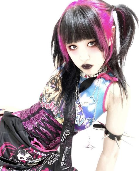 Grunge Goth, Grunge Hair, Goth Hair, Emo Hair, Visual Kei, Alternative Outfits, Alternative Fashion, Pelo Emo, Mode Sombre