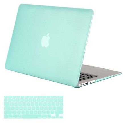 Mosiso Plastic Hard Cover Case For Macbook Air 13 Inch No Touch Id Models A1369 A1466 2010 2017 With Keyboard Cover Airy Blue Walmart Com In 2021 Macbook Air Case Macbook Air Case Hard Macbook