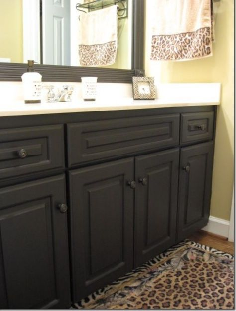 Bathroom Cabinets Ideas Dark Chocolate Black Painted Bathroom Cabinets Wow Discover More Ch Laminate Cabinets Painting Laminate Cabinets Painting Laminate
