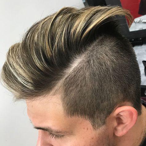 Light Blond Highlights Plus An Undercut Brown Hair With Blonde Highlights Hair Highlights Men Hair Color
