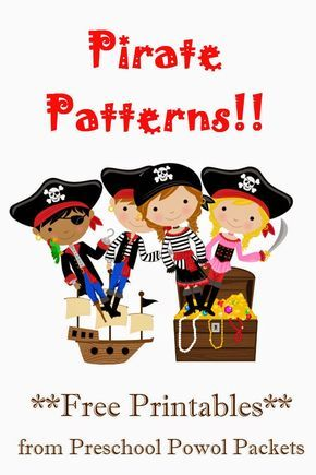 Free Pirate Patterns Preschool Packet Activites Des Pirates