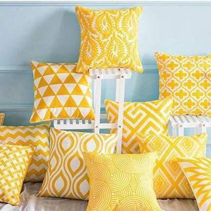 throw pillows living room yellow cushions
